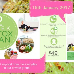 2 week detox with a private facegroup with me